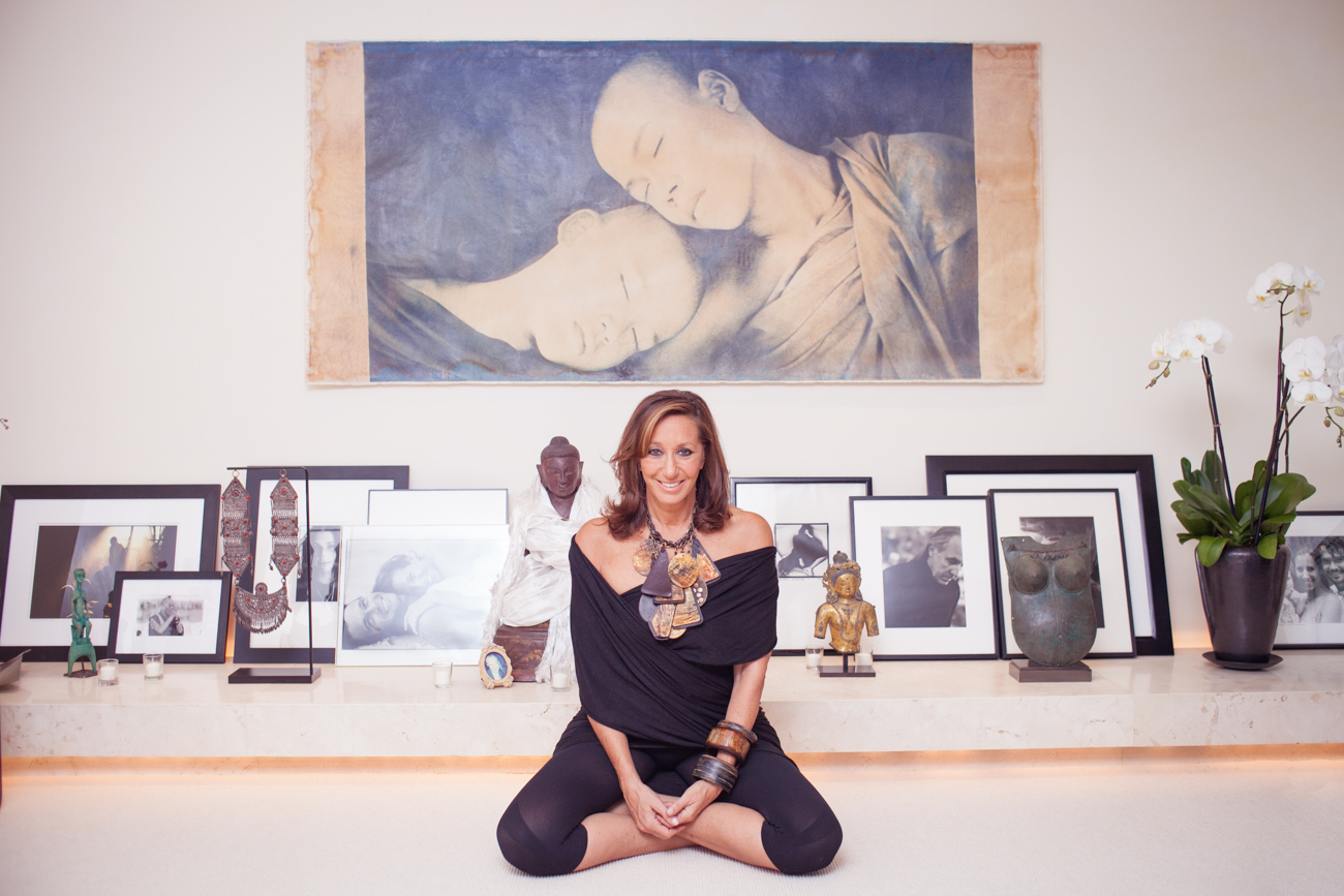 Donna Karan Buddha Religious Statues Lotus Position Portrait of Celebrity Fashion Designer Donna Karan Photography of Fashion Icon Celebrity Designer Donna Karan