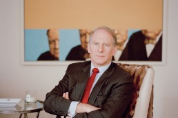 CEO Portrait of Council on Foreign Relations' President Richard Haass NYC Corporate Portrait of Richard Haass At Home Winston Churchill Painting