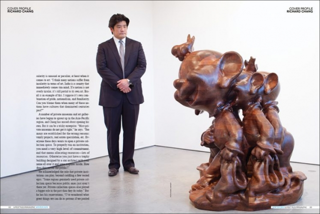 Richard Chang, Art Collector, Hauser & Wirth Gallery, NYC