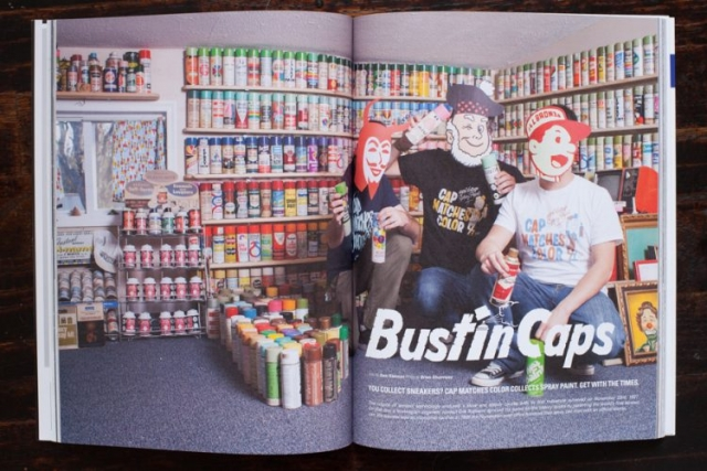 Cap Matches Color Tearsheet, Bustin Caps Story, Mass Appeal Magazine, Grou od guys waering masks