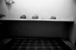 Fine Art Black and White Photography of Siblings Bathing Together in Bathtub