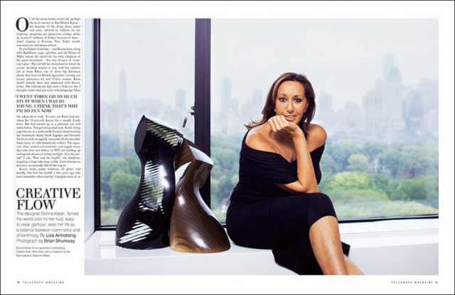 Donna Karan (Central Park). NYC / FINANCIAL TIMES