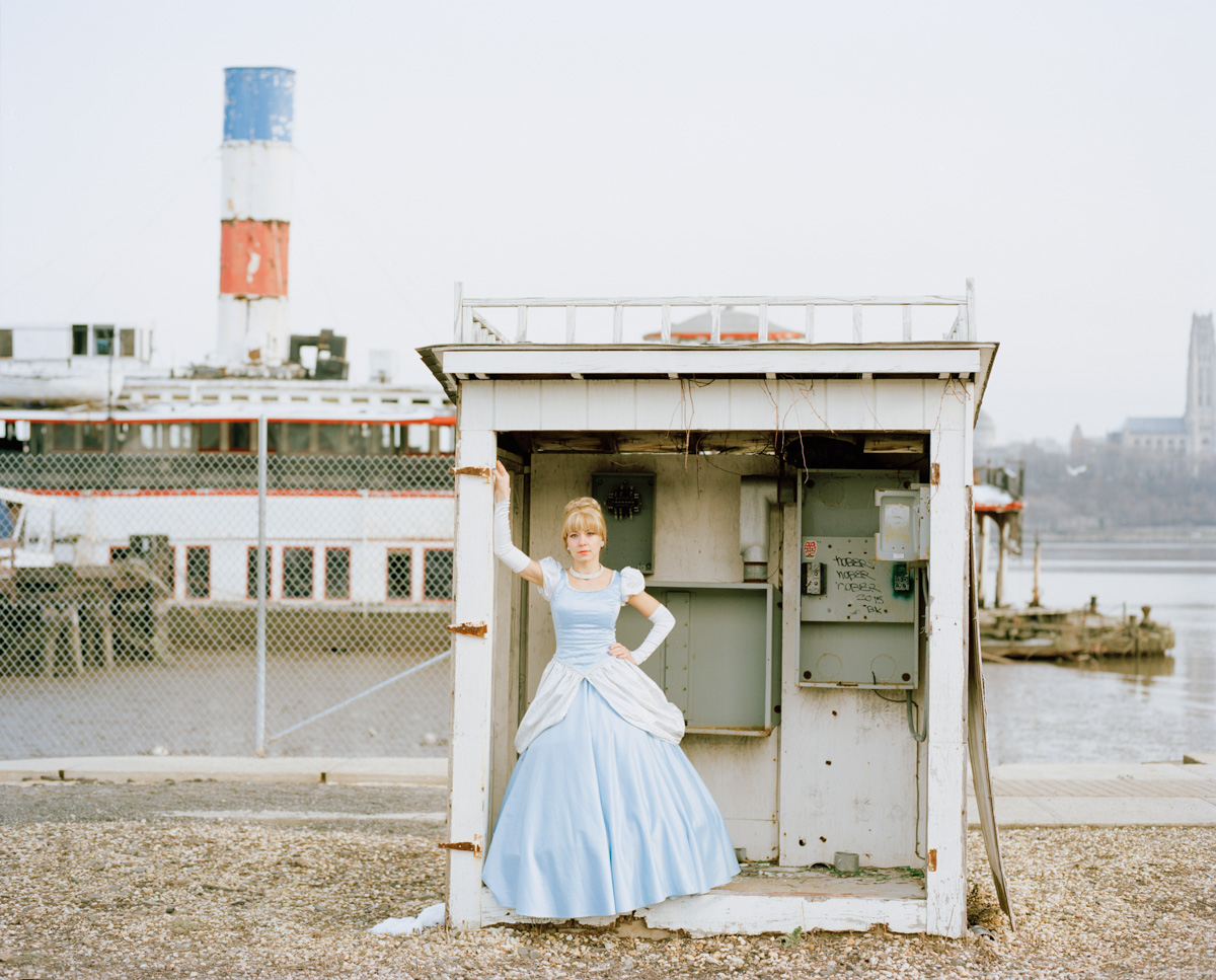 Refinery29 Real Life Disney Princesses Portrait Ordinary Woman Impersonates Works Disney Princess Cinderella East River Sunken Steamboat Binghamton Ferry New Jersey