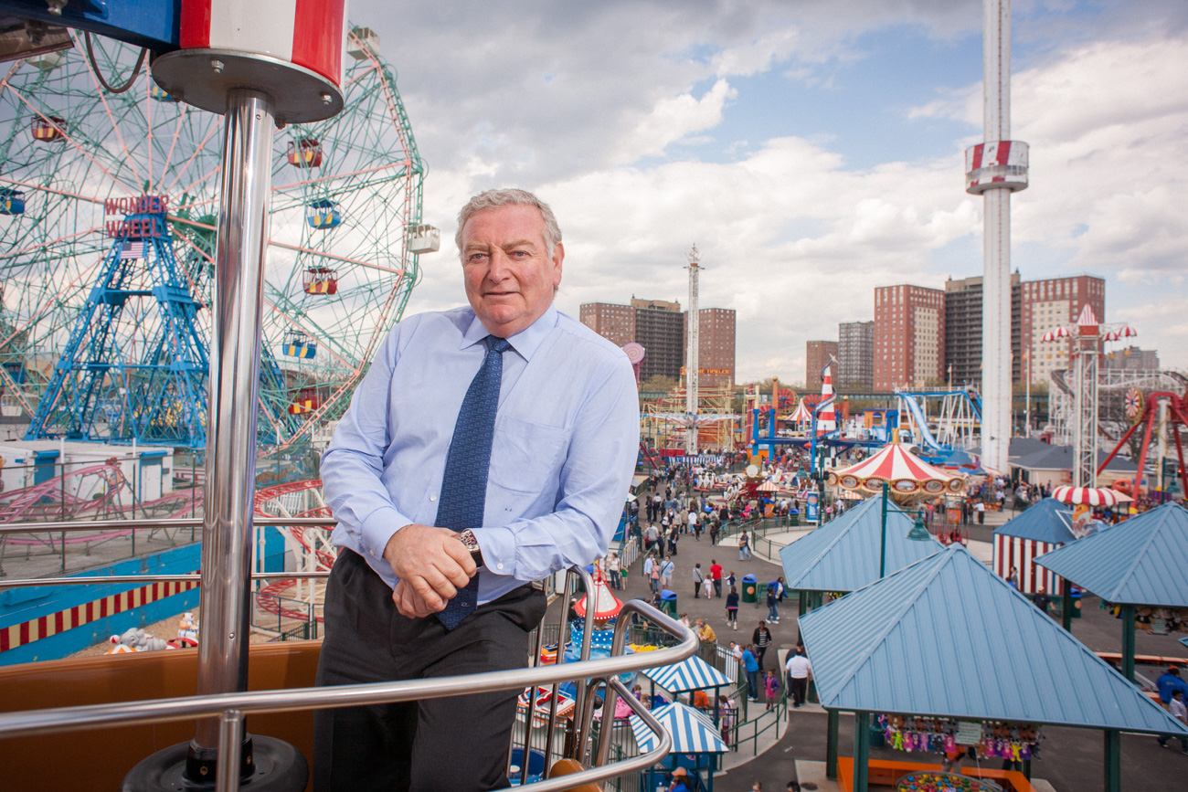 CEO Portraits of Coney Island Luna Park Developer Alberto Zamperla Wonder Wheel Ride Executive Portraits of Coney Island Luna Park Developer CEO on Amusement Rides