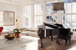 Architecture Photos of Grand Piano By Bank of Windows in Architect Vishaan Chakrabarti Home