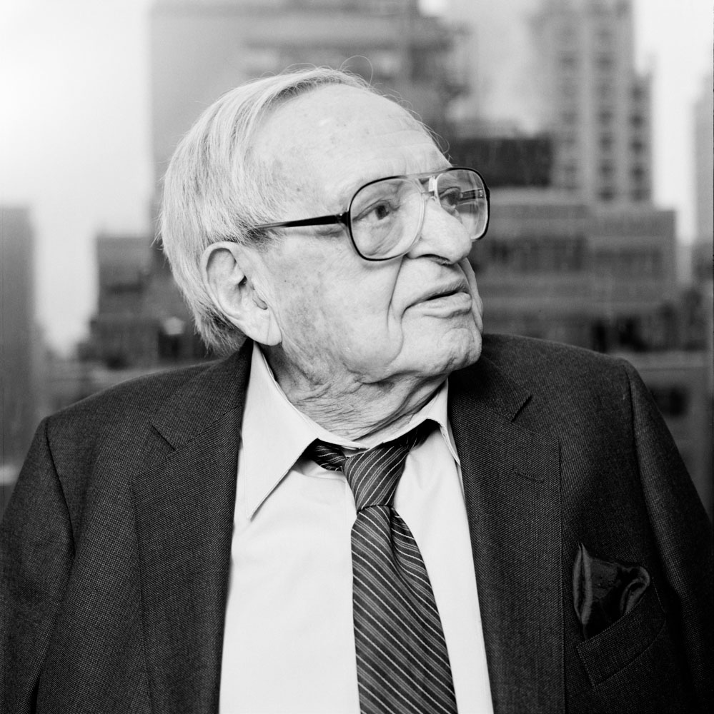 Business Headshots of Financial Investor & Centenarian Irving Kahn in his Office NYC