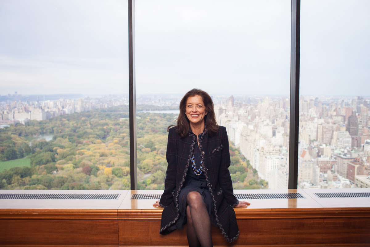 Business Portraits of Debra Black in Hedge Fund Office with Central Park Views NYC