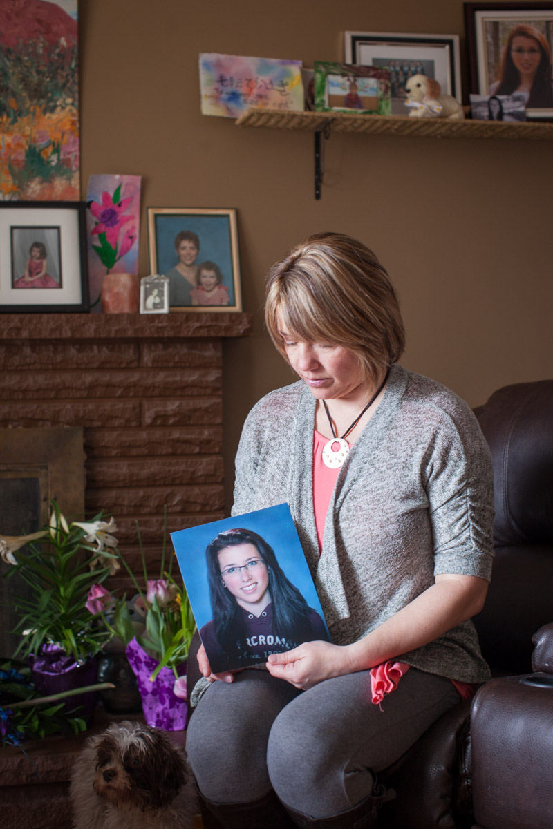Picture of mother of rape victim high school daughter who committed suicide Canada