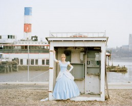 Picture of impersonator of Disney princess Cinderella by Sunken Boat Binghamton Ferry