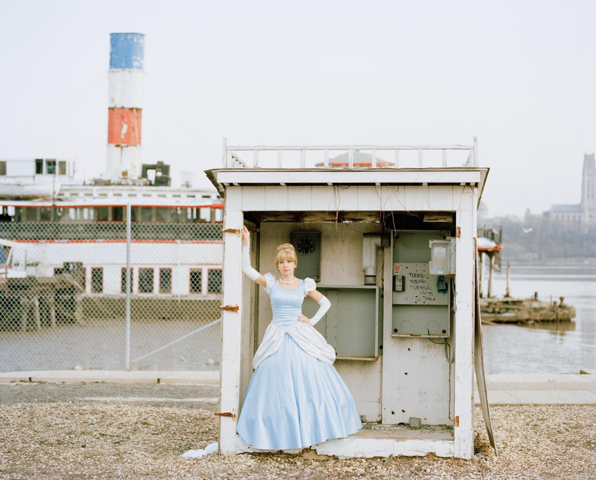 Picture of impersonator of Disney princess Cinderella by Sunken Boat Binghamton Ferry