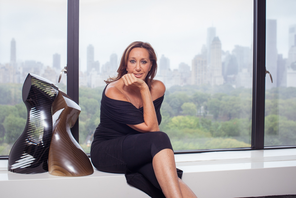 Photo of Fashion Designer Donna Karan at Home with Central Park VIew NYC