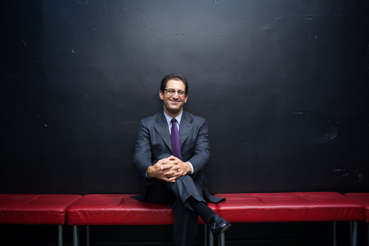 Business Portraits of Dan Singer, Treasurer on the Board backstage of Public Theater NYC