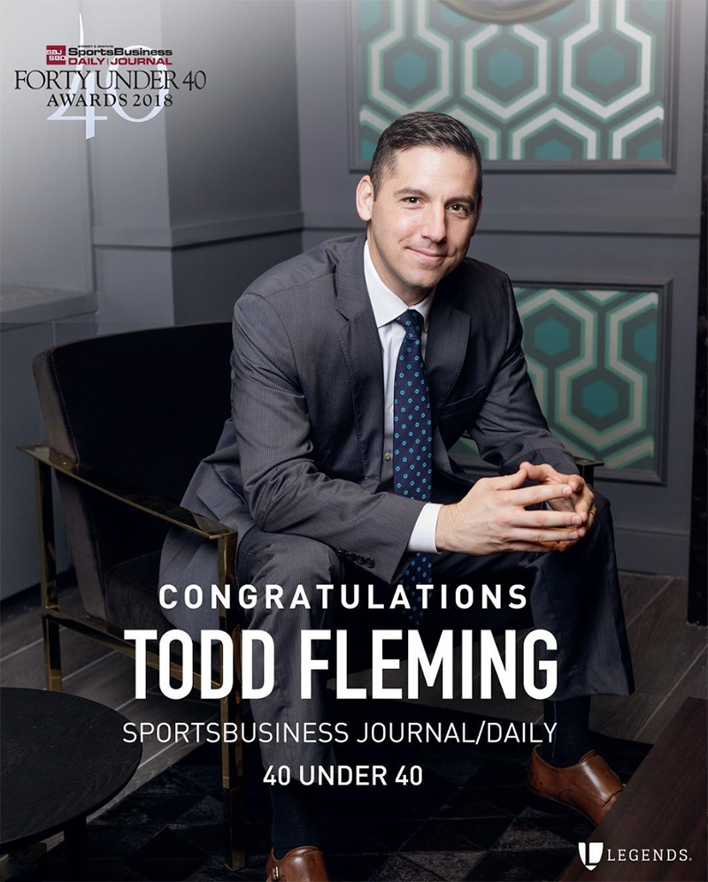 Creative corporate headshot for sports and entertainment hospitality agency Legends Tearsheet