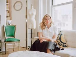 Mamiya 645AF portraits of wedding fashion stylist & founder The Stylish Bride Julie Sabatino in her Manhattan studio Financial TImes London