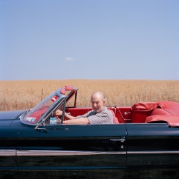 Portrait of Literary Agent Ed Victor in Bridgehampton Ed Victor Portrait in Classic 1968 Ford Galaxie 500 Near Bridgehampton Portrait Photography NYC