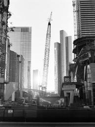 Fine art black and white Picture of Las Vegas CityCenter Construction Crane