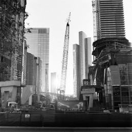 Fine art black and white Picture of Las Vegas CityCenter Construction Crane