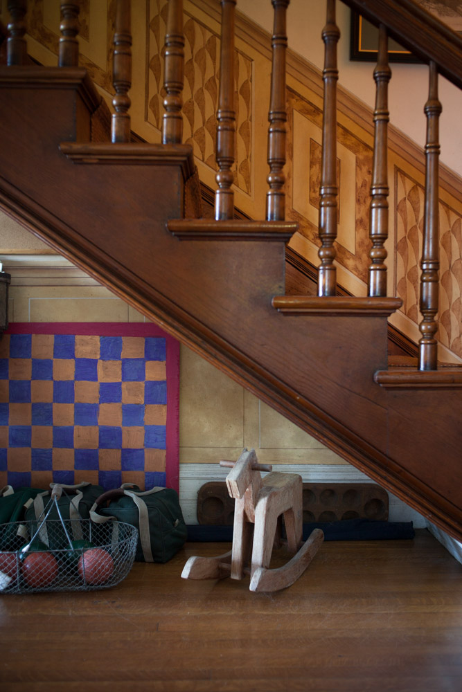 Architecture Photographer DFW   Stairs & Toy Wooden Rocking Horse at Joan Davidson's Estate