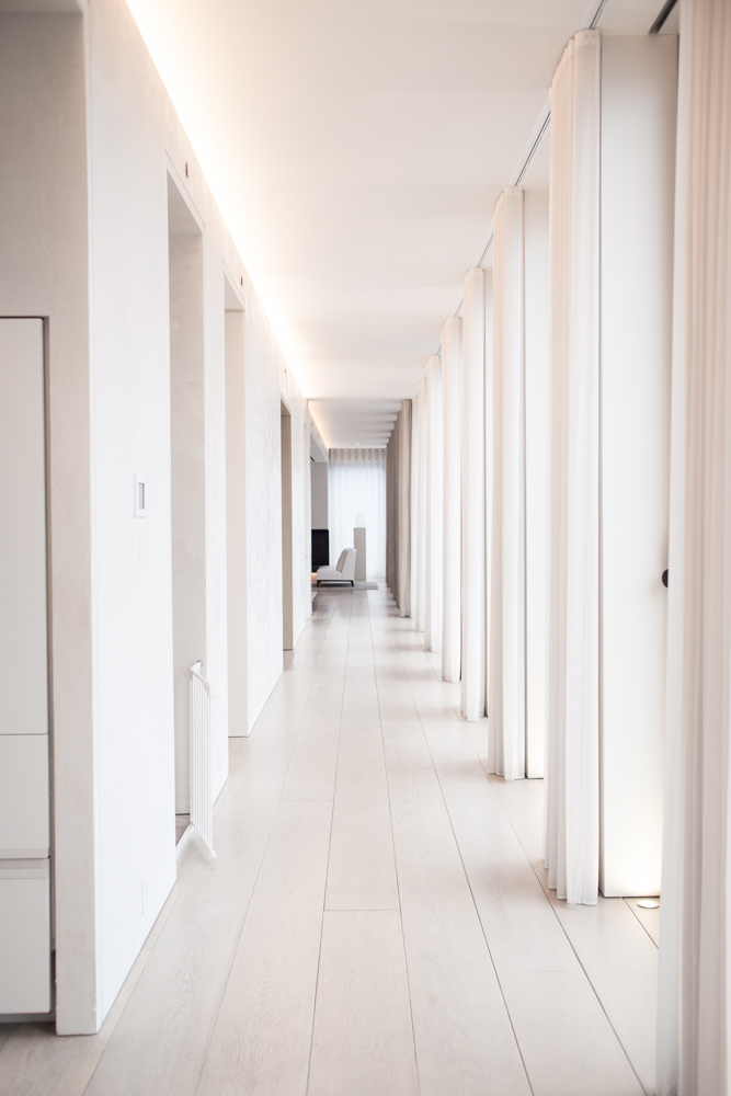 Architecture Photos of Long White Hallway at Home of Studio 54 's Ian Schrager NYC