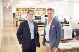 Business Portraits of Architects Brian Sawyer & John Berson in New York City Office