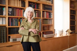 Business Portraits of Landscape Designer Elizabeth Barlow Rogers in Home Library Dallas, Texas