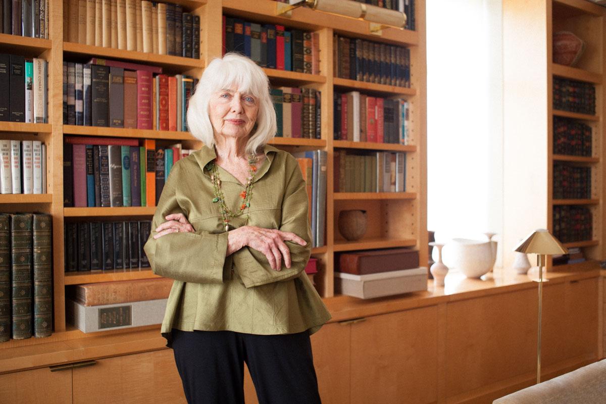 Business Portraits of Landscape Designer Elizabeth Barlow Rogers in Home Library Dallas, Texas