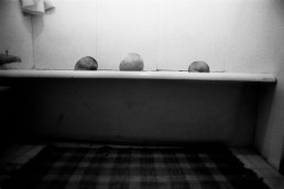 Dramatic Black and White Picture of Siblings Bathing Together in Bathtub Before Bed