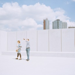 Fine art street Photo of Tourist Couple Visiting Franklin D. Roosevelt Four Freedoms Park NYC