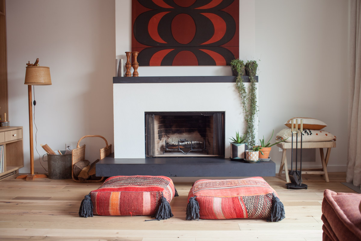 Interior Photography Dallas   Fire Place in Living Room of OkCupid 's Christian Rudder NYC