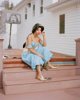 Photo of Latina who impersonates Disney Princess Jasmine in Costume by Jacuzzi NJ Portrait Photography