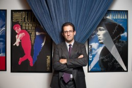 Business Portraits of Dan Singer, Treasurer on the Board in Public Theater offices NYC