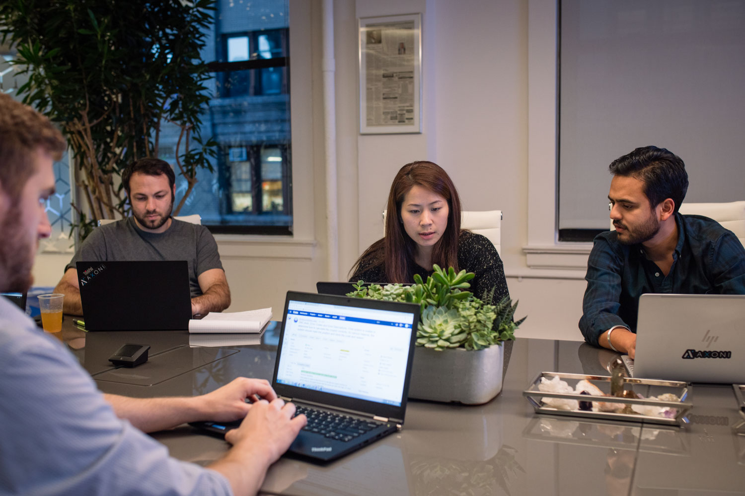 Office Lifestyle - Business & Corporate Lifestyle Photography NYC Startup Tech Team at Computers