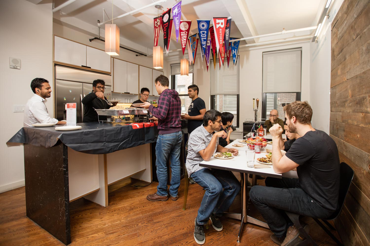 Office Lifestyle - Business & Corporate Lifestyle Photography NYC Tech Team Eating Lunch