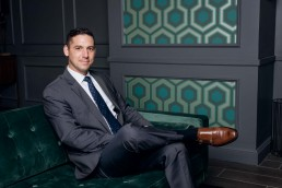 Creative corporate headshot for sports and entertainment hospitality agency Legends