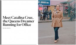 Portrait of Queens Dreamer Catalina Cruz for New York Magazine NYC Tearsheet