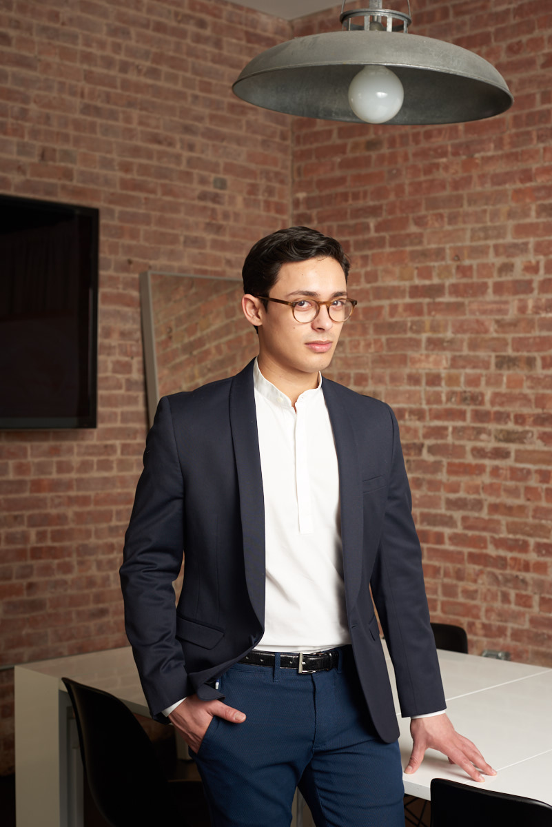 NYC Corporate Headshots   Modern Headshots of Young Tech CEO of Inspree App New York City