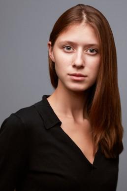 Actors Headshots New York   Headshot of red-head actor in studio