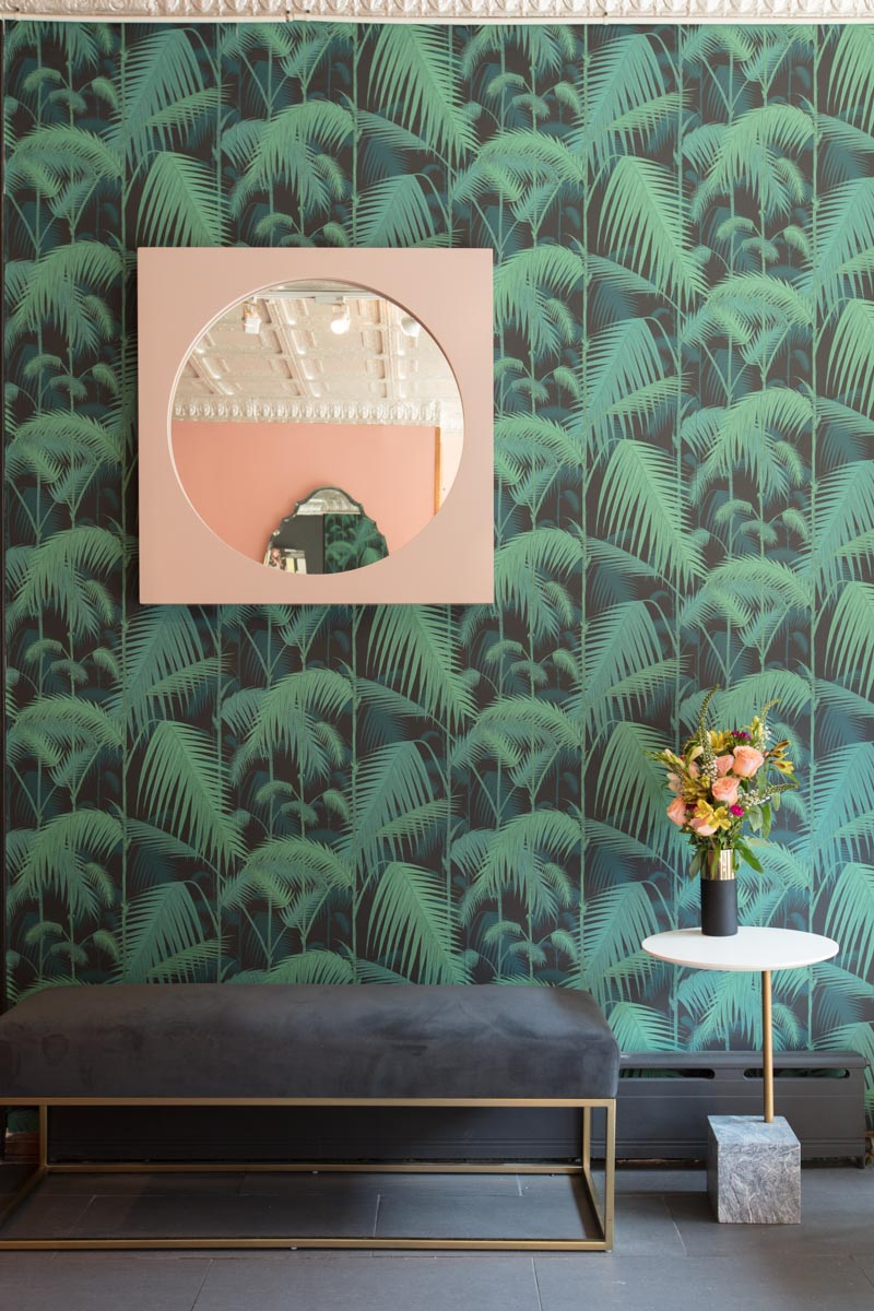 Architecture Photographer Dallas   Interiors of Soon Beauty Lab Flowers and Waiting Area