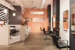Modern Architecture Photographer Dallas | Interiors of Soon Beauty Lab Salon Chairs