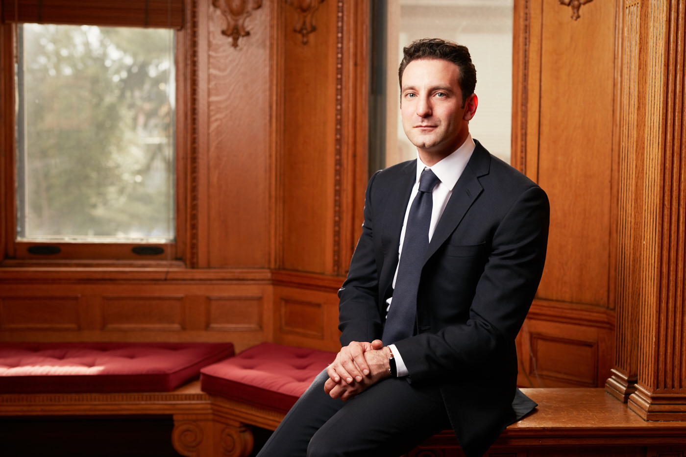 Portrait of Yale University econmost Zack Cooper New Haven, CT