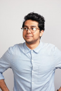 Creative, Editorial-Style Headshots of Young Man in Glasses for Healthline NYC