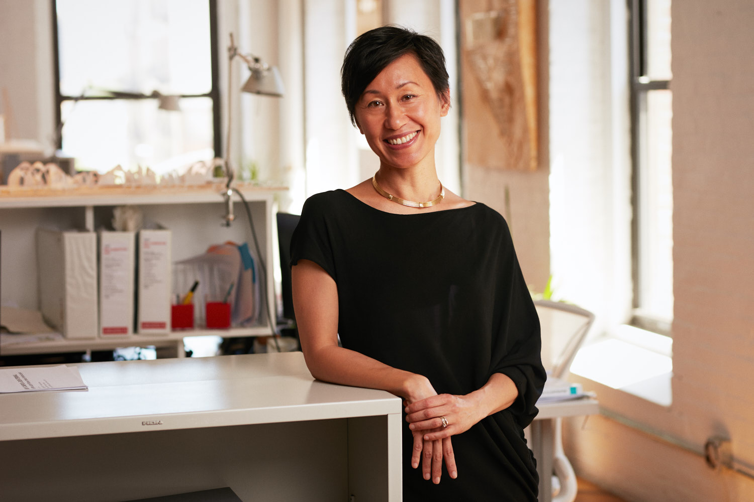 Creative Business Portrait of Female Architect and nArchitects Founder in Brooklyn Dumbo Office 1