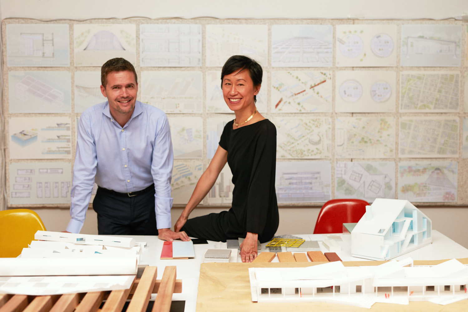 Creative Business Portrait of Female Architect and nArchitects Founder in Brooklyn Dumbo Office