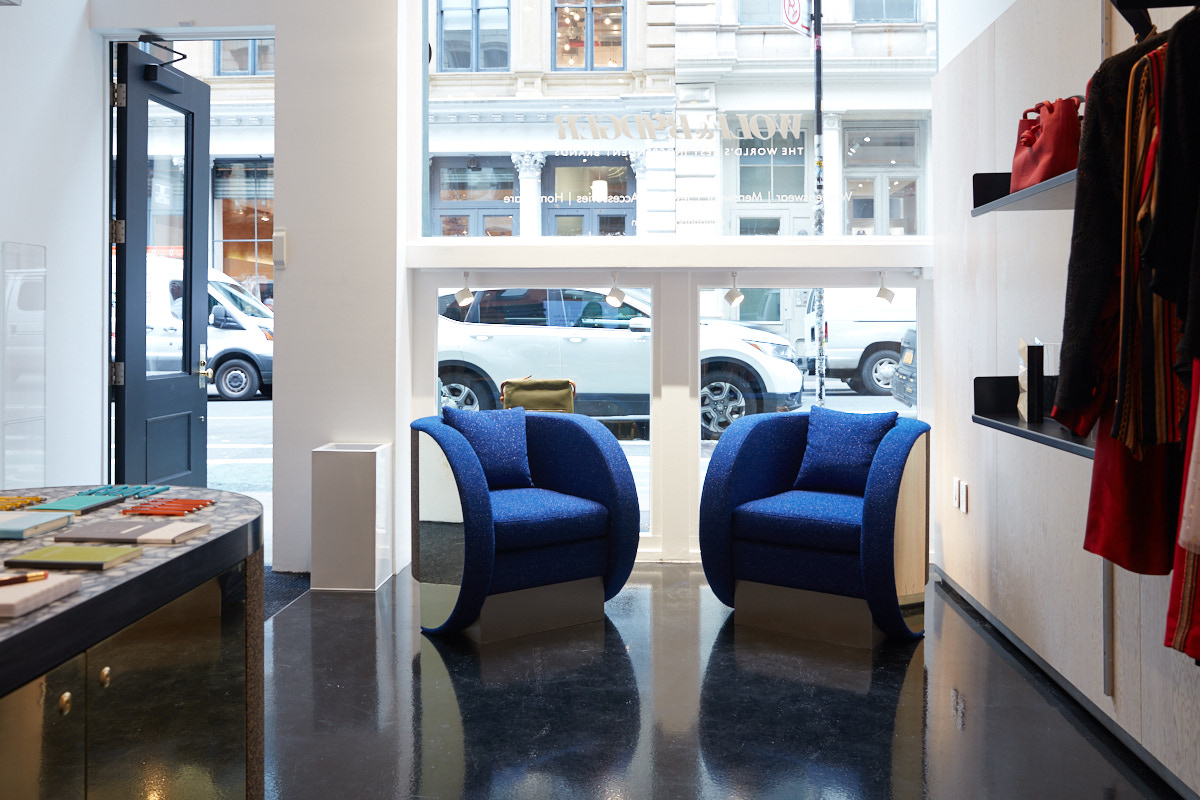 Architecture photography of Soho retail store interior NYC
