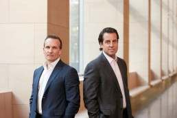 Executive portraits of Goldman Sachs partners in downtown NYC