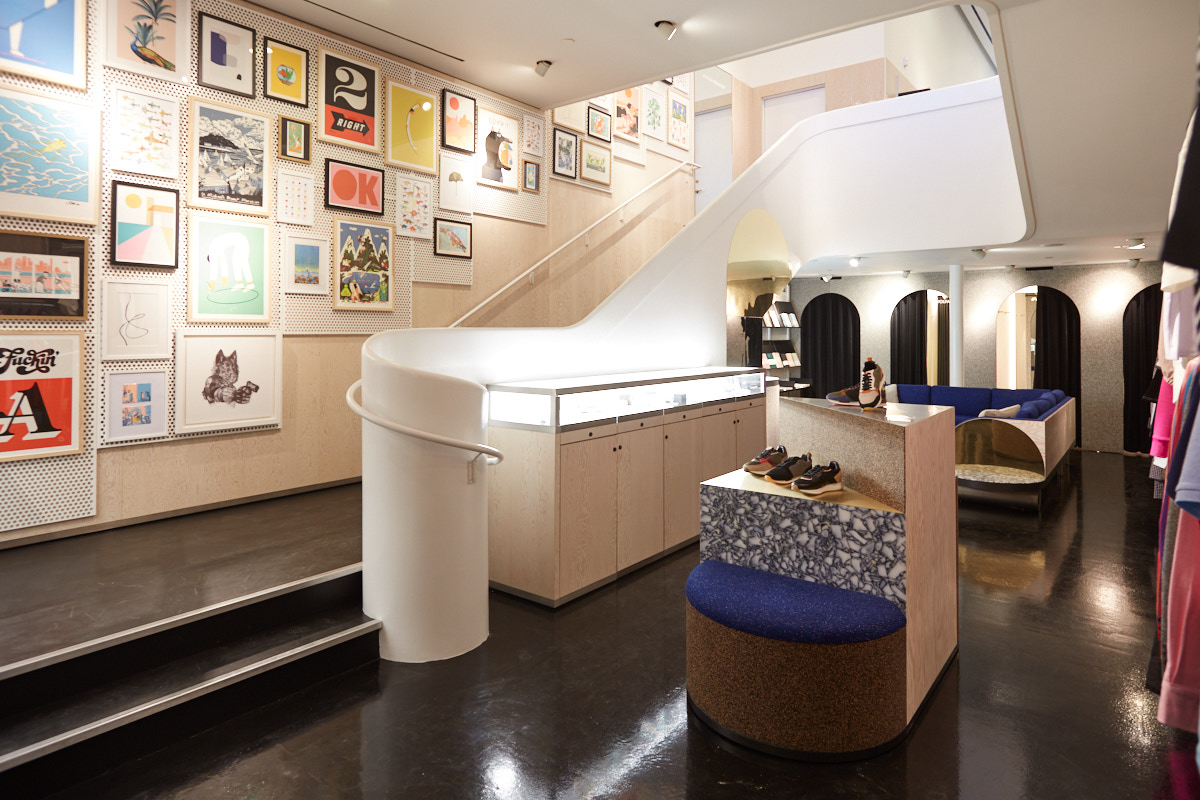 Interior architectural photography of Soho retail store NYC