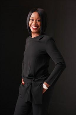 Modern Portraits and Headshots New York City   Studio Portrait of Young Black Woman