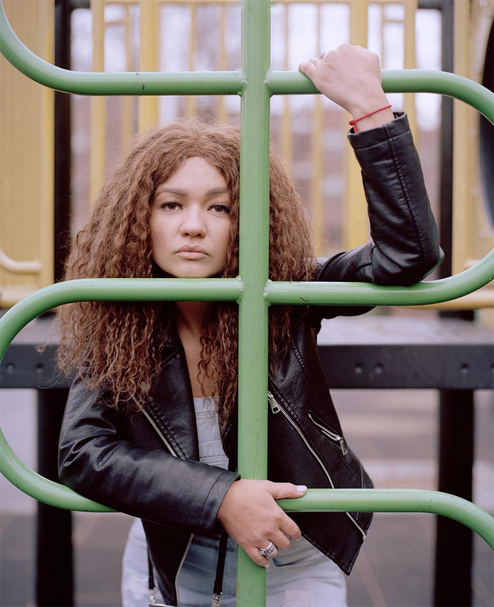 Portrait of fashion model in Brooklyn Park Dallas, Texas