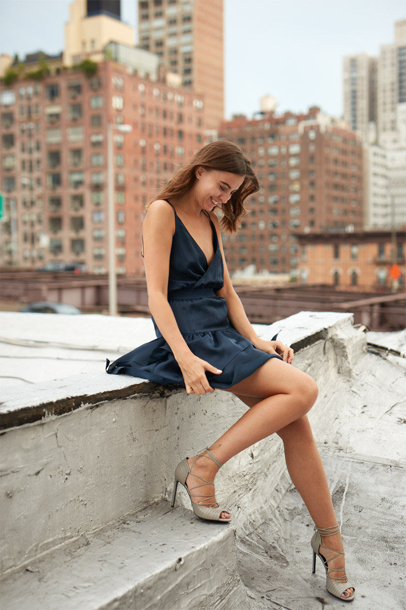 Fashion Senior Portraits | Texas Photographer | Senior Pictures of Girl in Dress