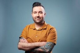 Creative Headshots Dallas - Corporate Business Headshot of Tattooed Man